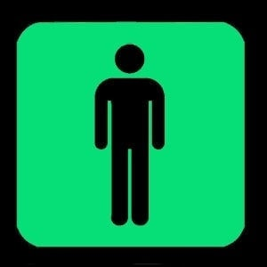 NIGHT SIGNS - Luminous GENTS Loo Sign