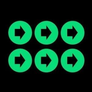 Night Signs - Luminous Disk Arrows Set
