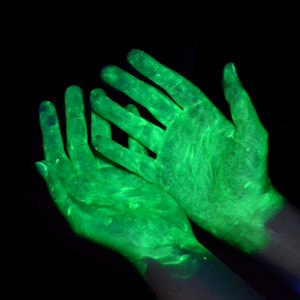 UVGERM Lotion under UV Light