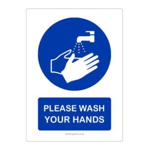Hand Washing Reminder Stickers
