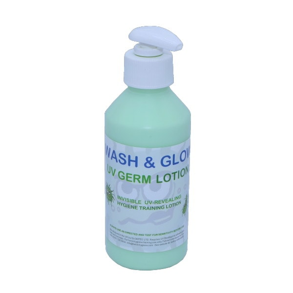 uv germ lotion 250ml green