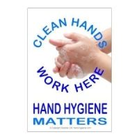 Clean hands work here stickers